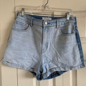 PacSun Two-Tone Denim Mom Shorts